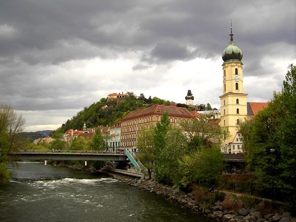 Graz, Austria; this river was beautiful to run next to