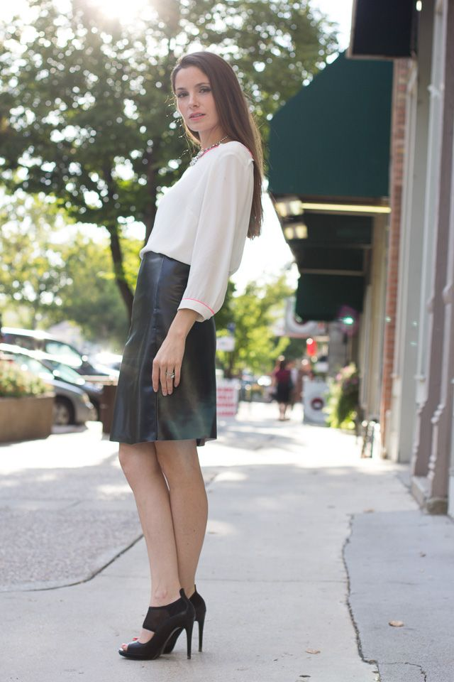 diy leather a line skirt sew delicious skirts
