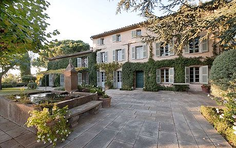 Laura Ashley and her husband vowed to 'work like hell, become successful and   buy the most incredible home in St Tropez'. Now, their lavish, historic   estate is for sale at £9 million.