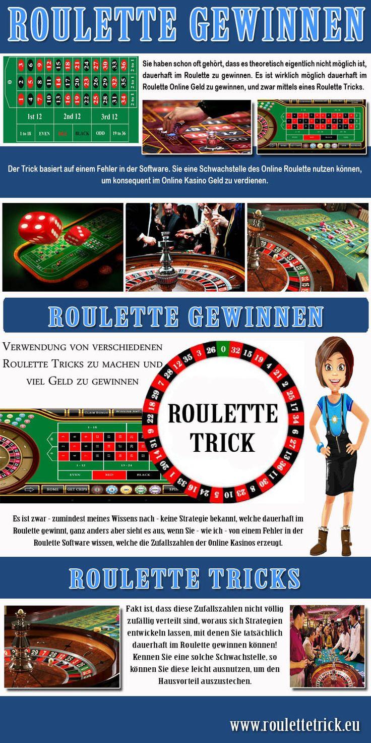 """Nachdem ich dann mehr als 56.900,- Euro gewonnen hatte, hatte ich zugegeben schon ein schlechtes Gewissen. Ich nutzte daher die Möglichkeit, die auf der Seite angeboten wird: Man kann den Entwicklern bzw. Programmierern des Roulette Trick  """" http://roulettetrick.eu/ """" eine kleine Spende zukommen lassen. Auf der Seite wird sogar darum gebeten.FOLGEN SIE UNS : https://www.quora.com/Roulette-Gewinnen"""