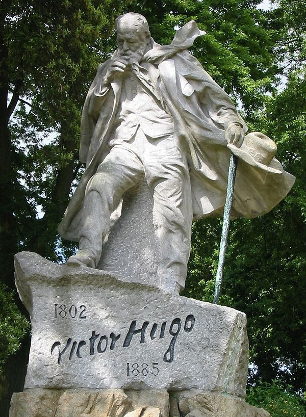 Victor Hugo walking against the wind, Guernsey. Sculpture by Jean Boucher http://www.rosettabooks.com/