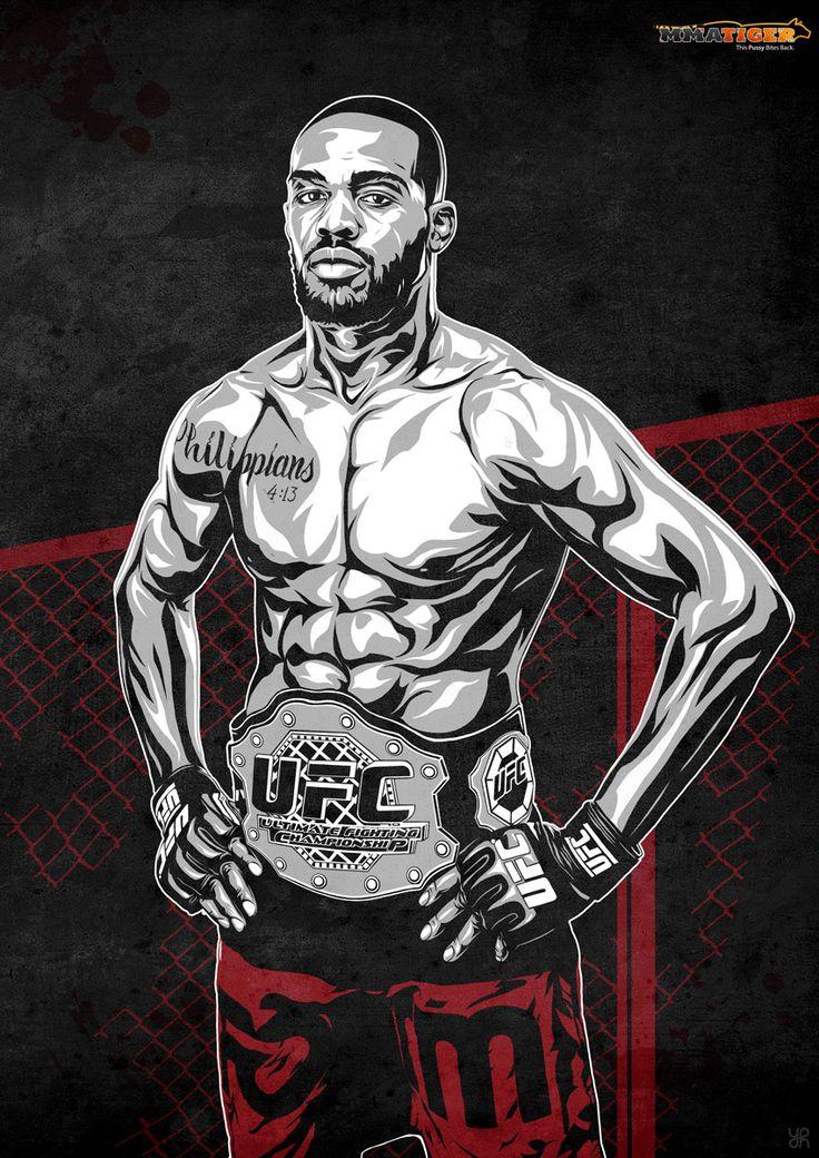 UFC Jon Bones Jones illustration
