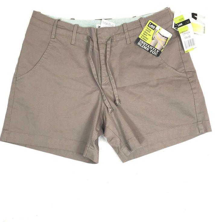 LEE Khaki Beige Shorts Slimming Summer Ladies Size 8 Medium NWT #Lee #shorts #Summer