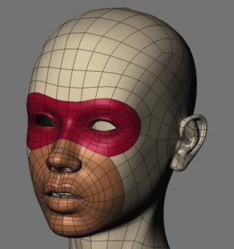 The need for edge loops and correct topology for good deformation. #polygons
