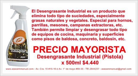 Desengrasante industrial