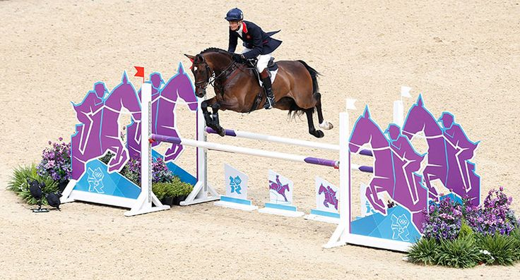 2012 Olympics: Great Britain's William Fox Pitt with his horse Lionheart (love that name!)