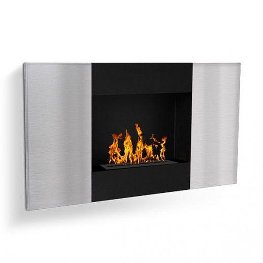 La façade de la cheminée éthanol Verinox mèle l'acier noir et l'inox brossé. Votre foyer éthanol design s'intègre alors chez vous de la plus belle manière qui soit.
