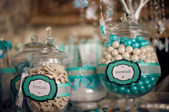 12 Candy Table Signs - custom on Etsy, $18.00