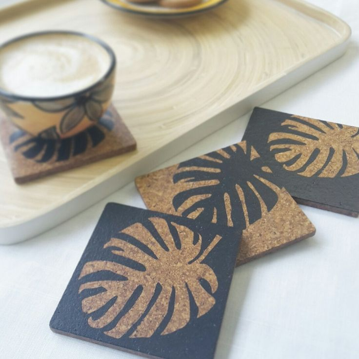 New Monstera leaf coasters now available ☕