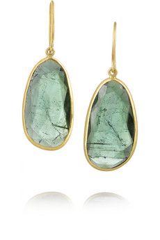 Pippa Small 18-karat gold tourmaline earrings | NET-A-PORTER