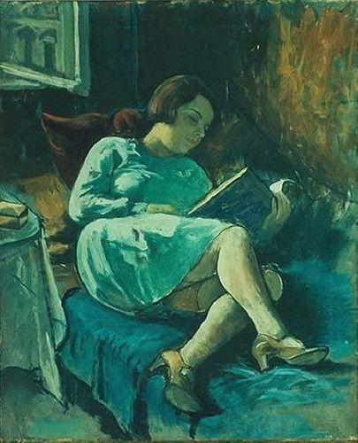 Women Reading - thomerama: Leitora reclinada, s/d by Peregrina...