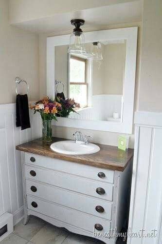 17 Best Ideas About Dresser Sink On Pinterest Dresser Vanity Vintage Bathroom Vanities And