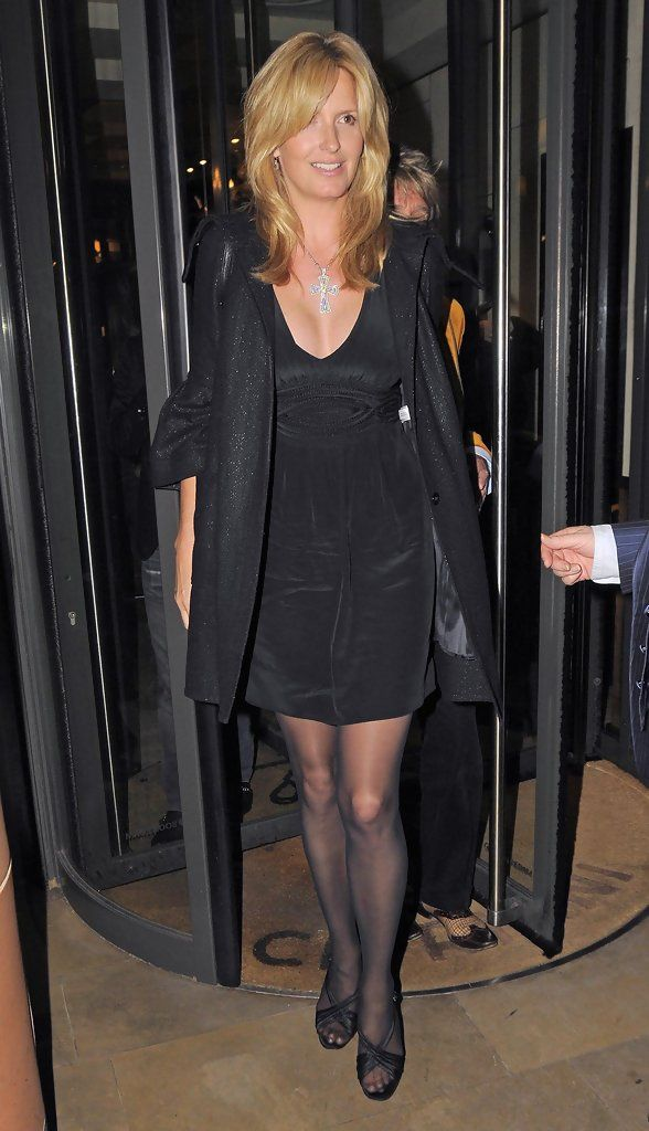 Penny Lancaster Photos: Rod Stewart And Penny Lancaster Leaving The Cipriani Restaurant