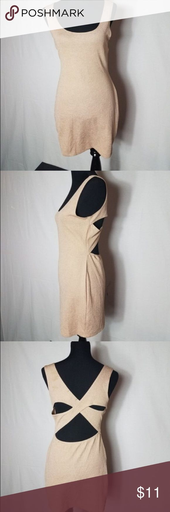 LOVE CULTURE SIZE LARGE BEIGE MINI DRESS Very beautiful dress to wear for a nice casual day out with family or friends! Very classy!! Love Culture Dresses Mini
