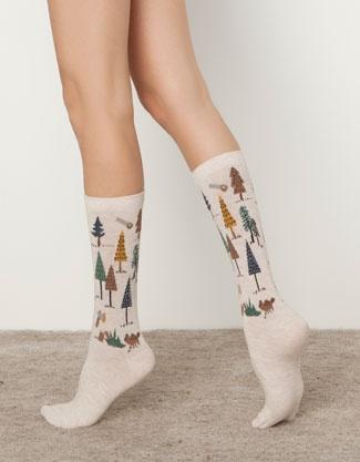 Pack of forest print socks - Socks - Accessories - United Kingdom
