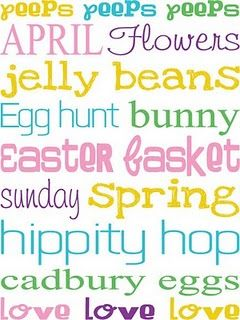 free printables for Easter crafts and scrapbooking   – Holidays