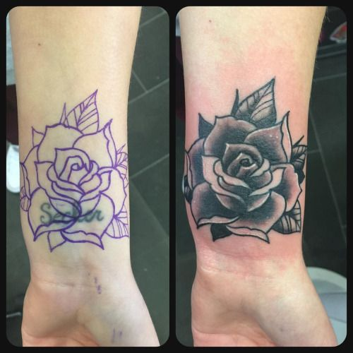 Rose Tattoo Cover Up: Best 25+ Black Rose Cover Up Tattoos Images On Pinterest