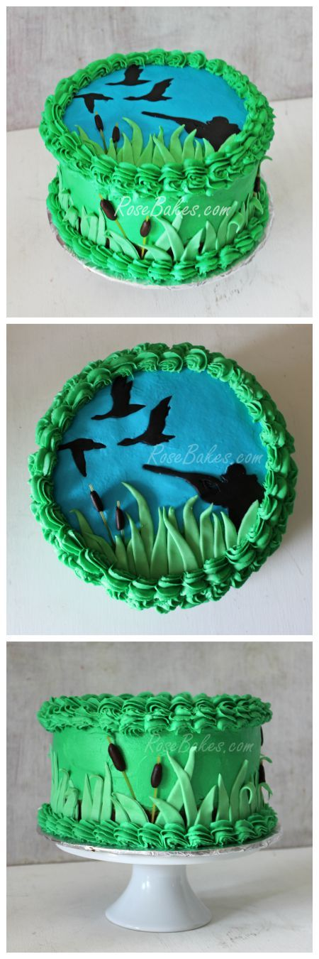 Duck Hunting Hunter Cake