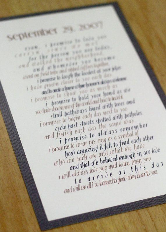 wedding vow art via 8 Wedding Vow Mistakes to Avoid
