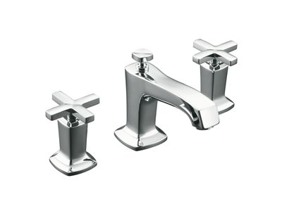 Margaux Basin Set with Cross Handles    Features:    Metal construction  ¼ turn ceramic disc valves  Suitable for mains pressure  KOHLER finishes resist tarnishing and corrosion