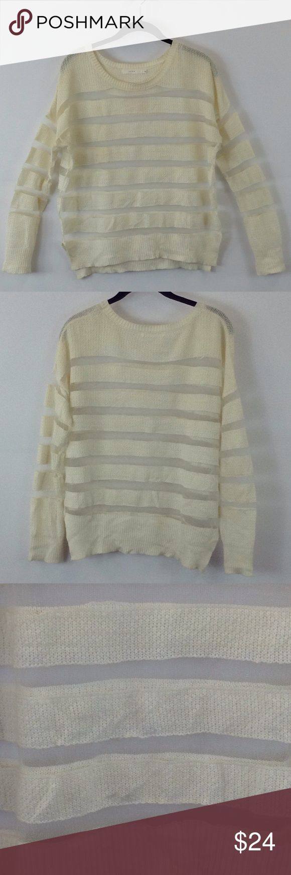 "Lush cream long sleeve top size small Lush cream long sleeve top size small Bust 46"" Waist 42"" Lush Tops Tees - Long Sleeve"