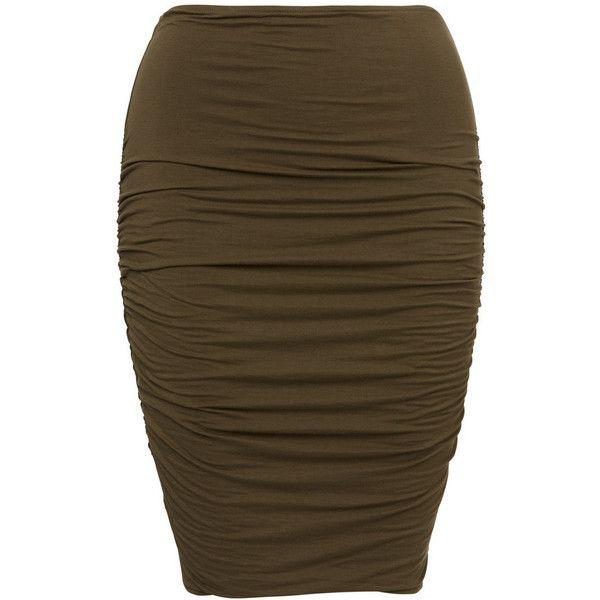 Mindi Skirt ($27) ❤ liked on Polyvore featuring skirts, mini skirts, fitted mini skirt, fitted skirts, mini skirt, brown skirt and brown mini skirt