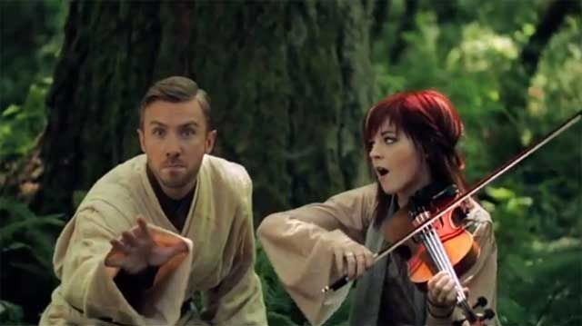 Lindsey Stirling and Peter Hollens. Love them!!!