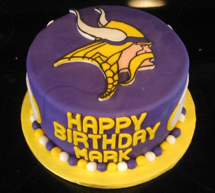 Vikings Foorball Birthday Cake