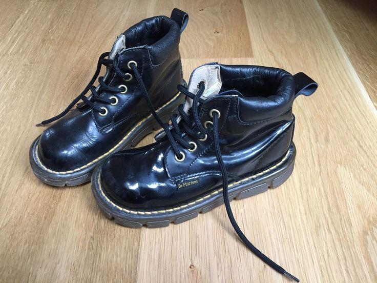 KULT! Dr. Doc Martens für Kinder Gr. 28 hohe Schuhe Leder glänzend schwarz | eBay
