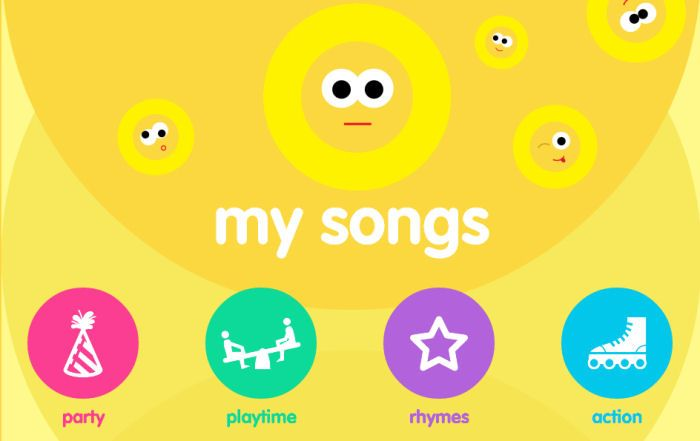 "music I love until we were made aware of the ""My Songs"" Children's app by British children's music label USM Junior, available on free use and subscription."