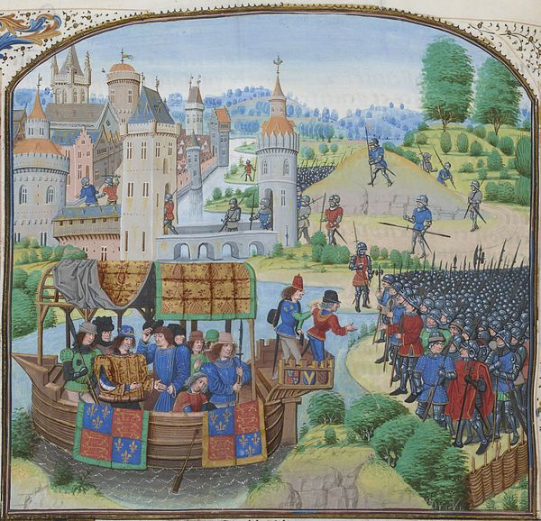 Painting of Richard II Peasants Revolt