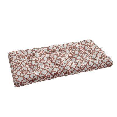 Charlton Home Barrows Printed Fretwork 3M Scotchgard Outdoor Cushion