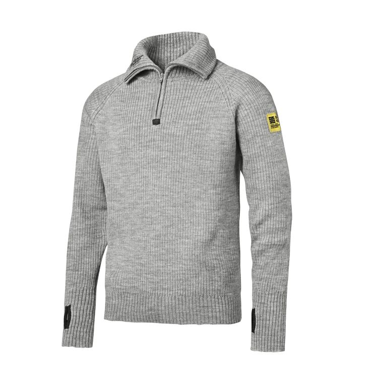 For a truly warm and cosy second layer, wear this soft yet reinforced ½-zipped knitted wool sweater. Highly moisture-absorbing and breathable for pure natural wool comfort