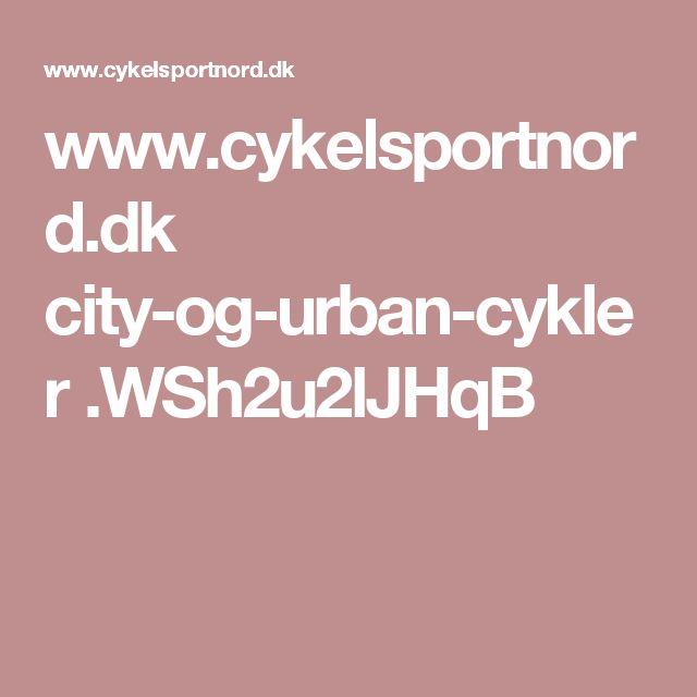 www.cykelsportnord.dk city-og-urban-cykler .WSh2u2lJHqB