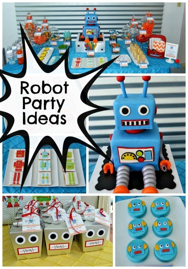 Robot themed fifth birthday party spaceships birthdays for 5th birthday decoration ideas