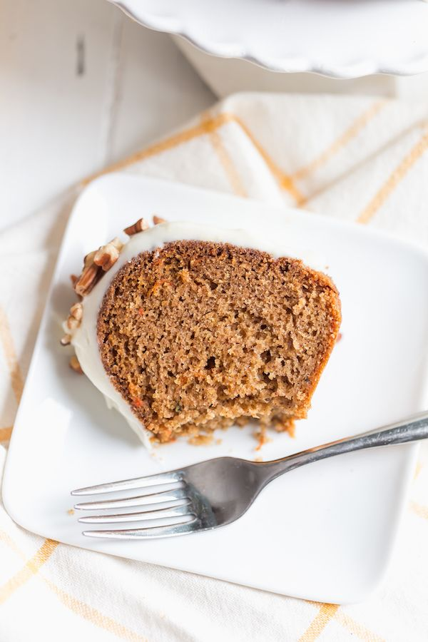 Carrot Bundt Cake with Cream Cheese Frosting | recipe from greens & chocolate
