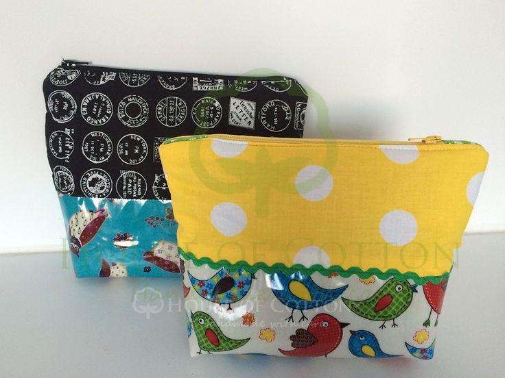 Kosmetyczki z bawełny laminowanej / Cosmetic bags from laminated cotton