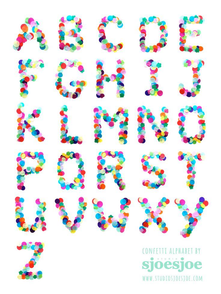 Confetti alphabet by Studio Sjoesjoe - www.studiosjoesjoe.com