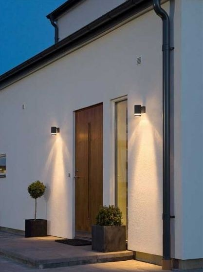 Add a chic touch to your back door, or even your front door, with coordinating lanterns either side! We love these outdoor lights, only a tiny £25 at http://www.alertelectrical.com/prod/3585/konstsmide-modena-7511-black-wall-light