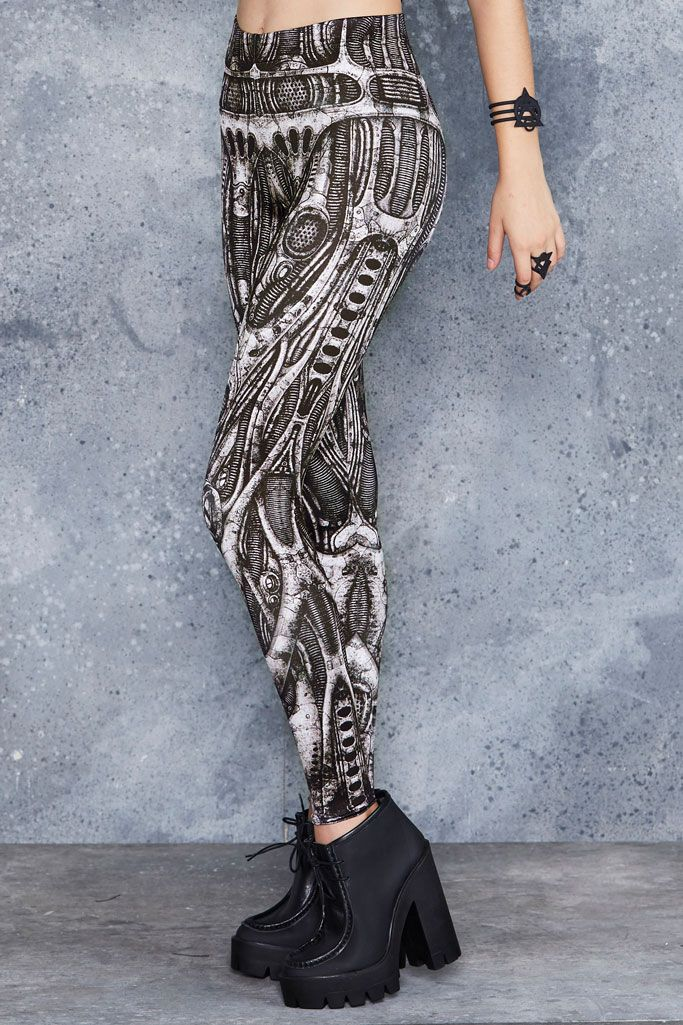 Next World Machine Leggings ($75AUD) by BlackMilk Clothing