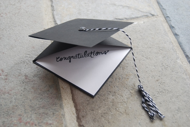 Graduation hat card... just some well placed folds... and a tassel!