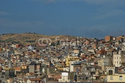 Bronte - county f Catania - Sicily - view over some houses of the town
