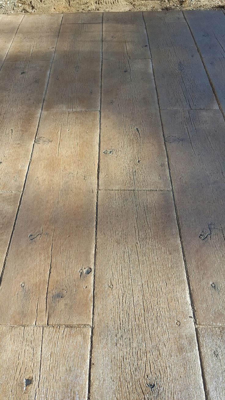Stamped patio. Wood concrete stamp   Stamped Concrete ...