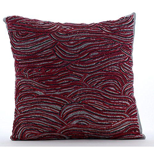 Luxury Grey Pillow Cases, Cranberry Color Beaded Pillows ... https://www.amazon.com/dp/B016H8WKJC/ref=cm_sw_r_pi_dp_x_8pIayb1S40FGQ
