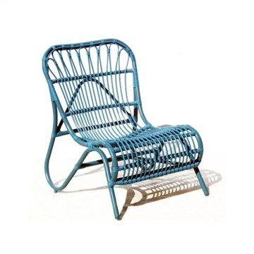 Cruz Aluminum Frame Stackable Chair - Blue