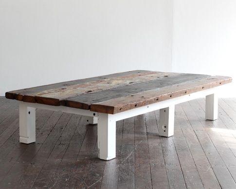 wood plank coffee table | idi design