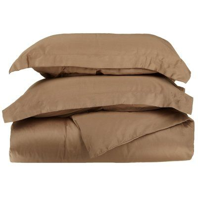 Anew Edit 400 Thread Count Egyptian Quality Cotton Solid Duvet Cover Set Size: