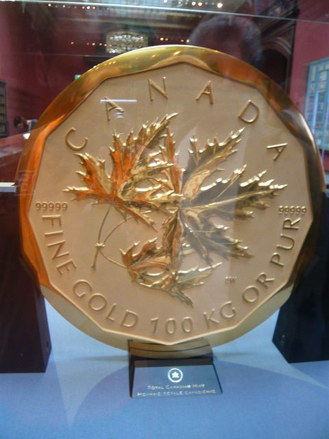 Y'arr, this be the largest gold coin accordin' to me sources. 'Tis to big for me to even carry!