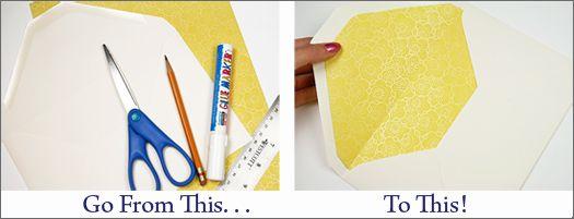 DIY Envelope Liner Templates & Instructions – Create Unique Lined Invitation Envelopes