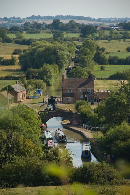 Oford canal, napton on the hill, warwickshire